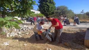 Belediye ve STK'lar el ele verdi, Saip ağaçlık alan tertemiz oldu